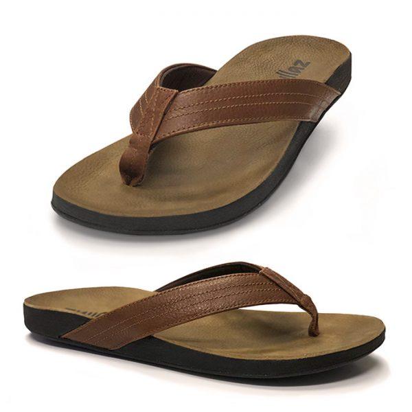 Zullaz 'Byron' – Full-grain leather Mens Thong