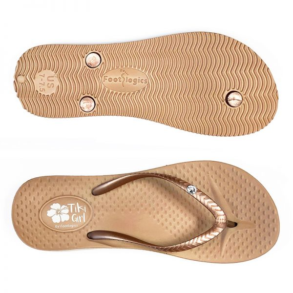 Tiki Girl thongs with arch support