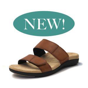 Spring Tan sandal velcro straps