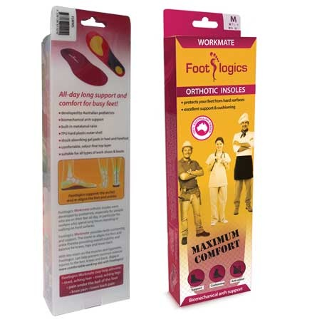 Workmate orthotic insoles for work boots